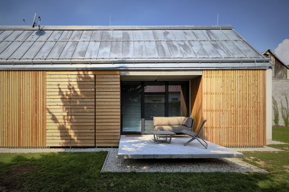 The Wooden Brick House adds contemporary detailing to the local village house architecture. It has 745 sq ft inside with one bedroom. | www.facebook.com/SmallHouseBliss