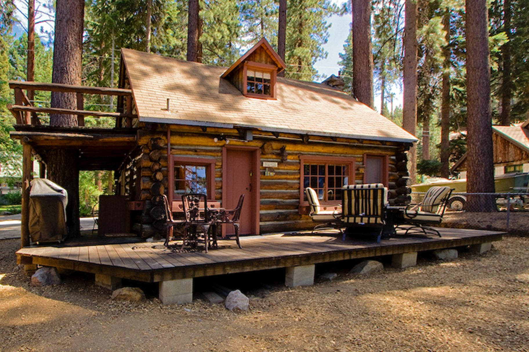 style condo cabin exterior lake den s in a tahoe cabins enjoy cheap from rental comfort the of south cub island