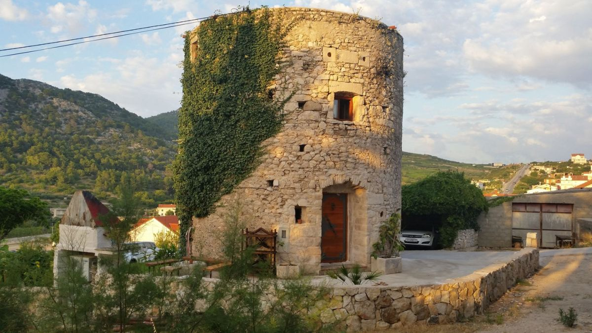 An Old Stone Tower Becomes A Small House In Hvar Croatia