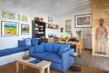 Many cost-saving strategies were used in the design and construction of this small beach cottage in California. | www.facebook.com/SmallHouseBliss