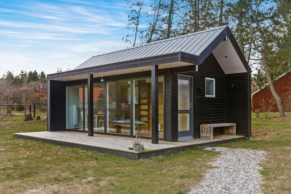 tiny house plans with loft. this scandinavian modern tiny house in denmark has a 258 sq ft studio floor plan with plans loft