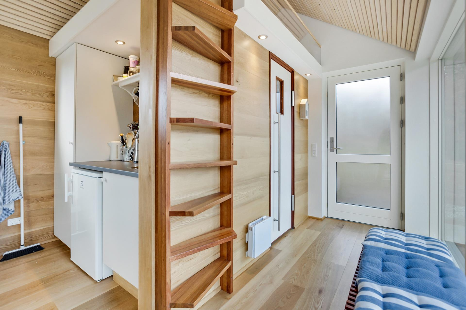 ^ Scandinavian Modern tiny house Simon Steffensen Small House Bliss