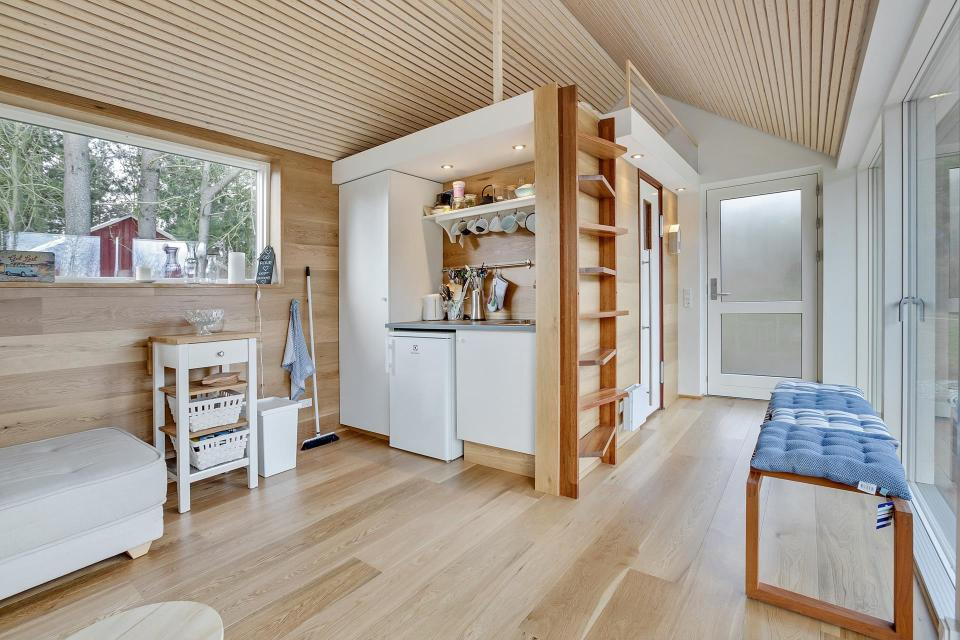 Interior House Design For Small House. This Scandinavian Modern tiny house in Denmark has a 258 sq ft studio floor  plan with Simon Steffensen Small House Bliss
