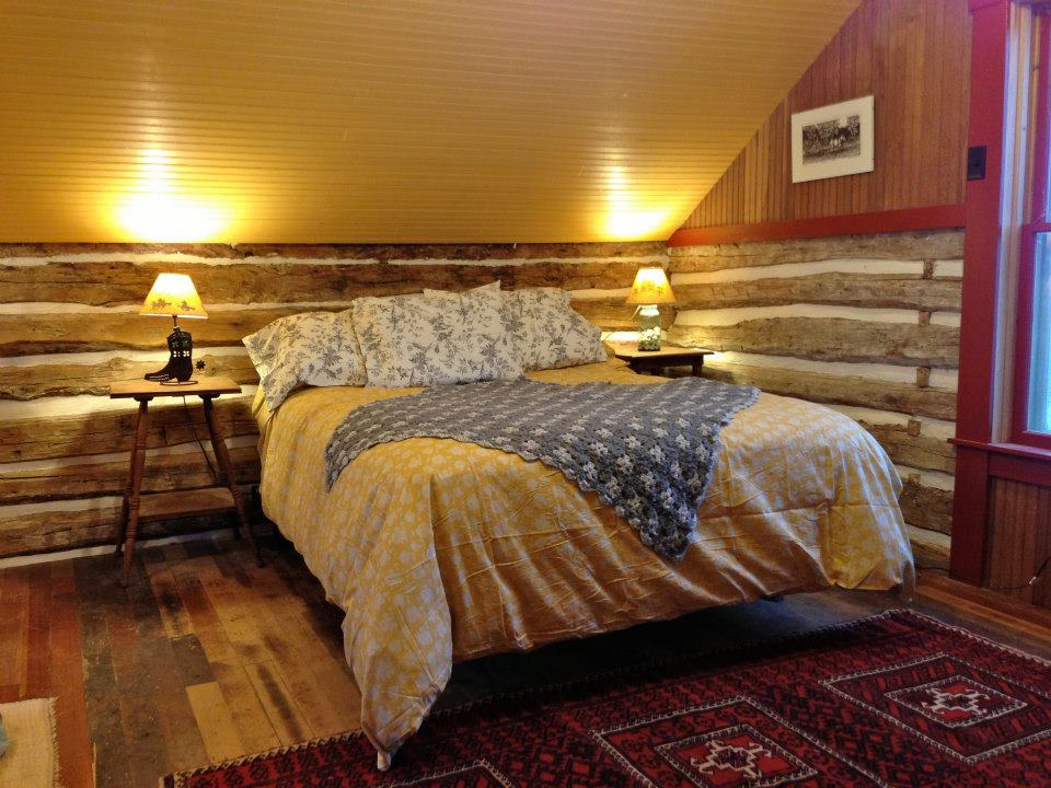 Trout River Log Cabin is over 150 years old. Originally a school, it has twice been disassembled, moved and put back together. | www.facebook.com/SmallHouseBliss