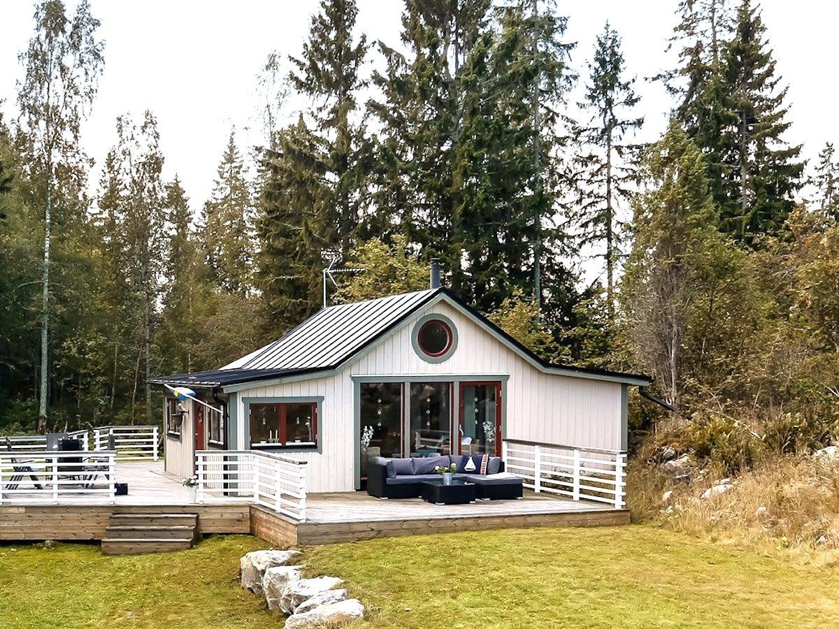 Off Grid Island Cottage In Sweden