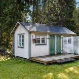 This 1930 summer cottage in Sweden retains its original vintage charm. It has two small bedrooms in 592 sq ft. | www.facebook.com/SmallHouseBliss