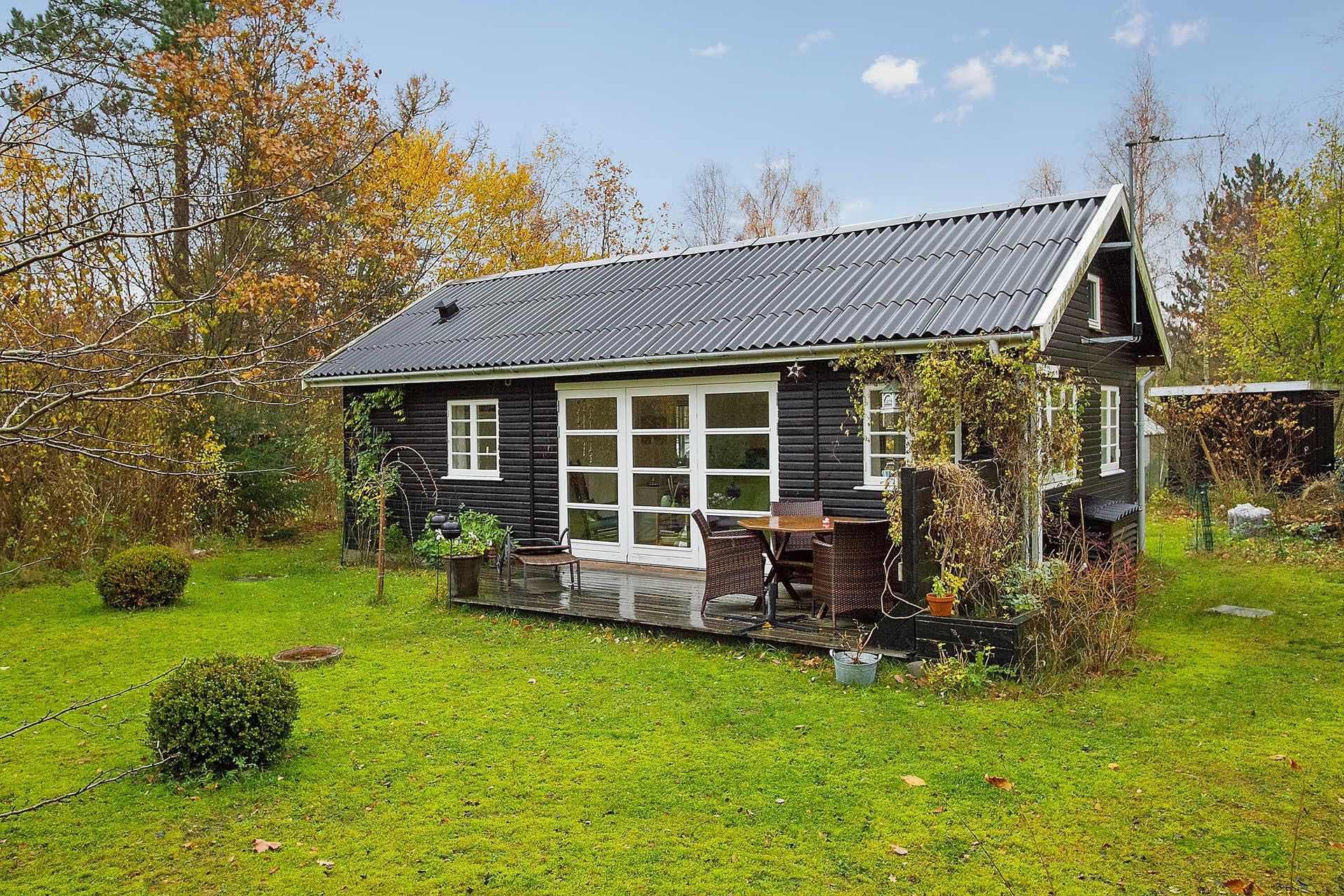 Black And White Danish Summerhouse