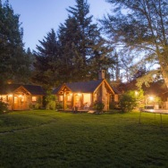 These Alpine-style brick and wood cottages in Patagonia offer one bedroom in a 786 sq ft single-level plan.   www.facebook.com/SmallHouseBliss