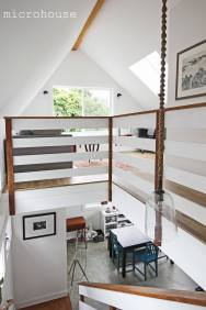 This contemporary backyard cottage in Seattle was designed to take advantage of natural light. It has one bedroom and a study in 800 sq ft. | www.facebook.com/SmallHouseBliss